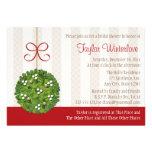 Mistletoe Kissing Ball Bridal Shower Custom Announcement