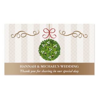 MISTLETOE KISSING BALL Seating Place Card Business Cards