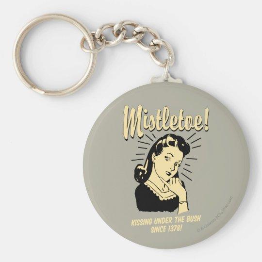 Mistletoe: Kissing Under The Bush Since 1378 Basic Round Button Key Ring