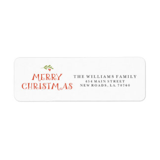 Mistletoe Merry Christmas Address Labels