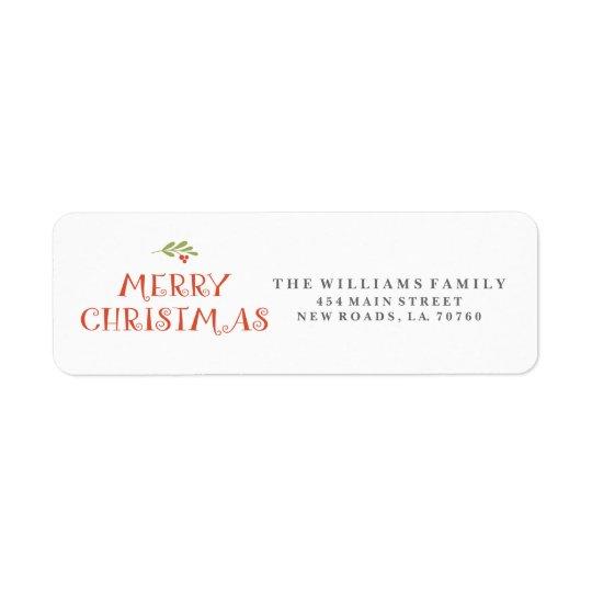 Mistletoe Merry Christmas Address Labels