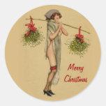 Mistletoe Miss 2 Round Sticker