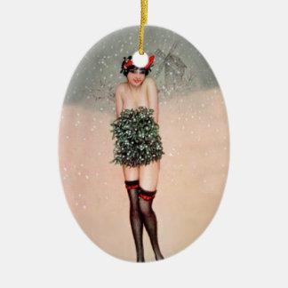 Mistletoe Miss Christmas Ornament