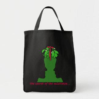Mistletoe Optical Illusion Canvas Bags