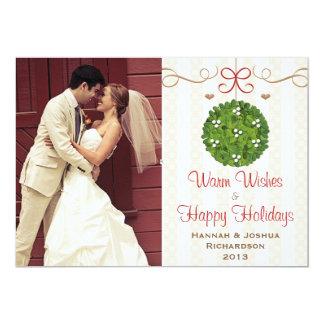 Mistletoe Photo Christmas Card 13 Cm X 18 Cm Invitation Card