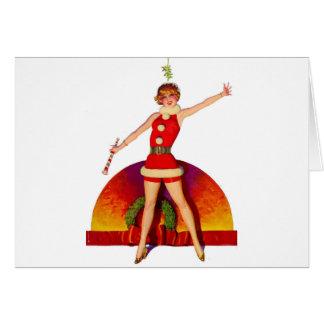 Mistletoe Pinup Girl Card