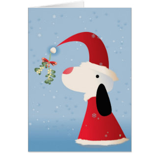 Mistletoe Pup Card