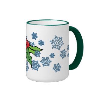 Mistletoe Snowflake Mug