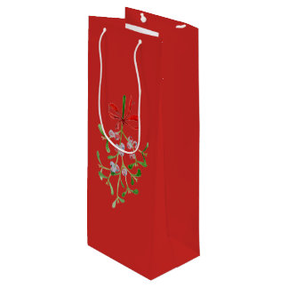 Mistletoe Wine Gift Bag