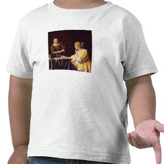 Mistress and maid by Johannes Vermeer T-shirt