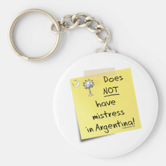 mistress in Argentina Basic Round Button Key Ring