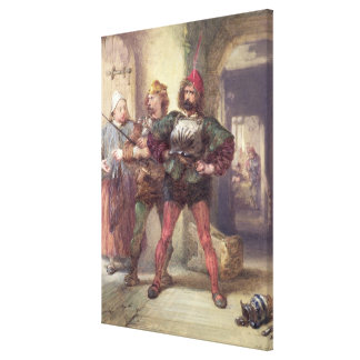 Mistress Quickly, Nym and Bardolph Stretched Canvas Print