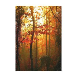 Misty Autumn Morning Canvas