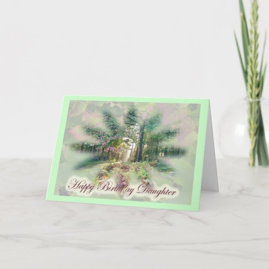 Misty Autumn Morning Daughter Birthday Card
