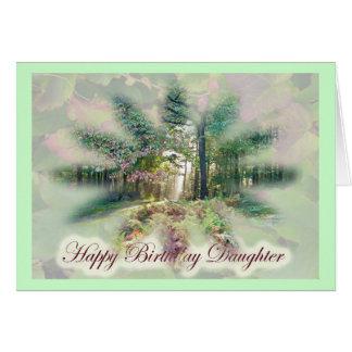 Misty Autumn Morning Daughter Birthday Card