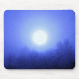 Misty Blue Sunrise Mouse Pad