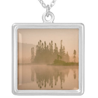 Misty dawn on East Inlet, Pittsburg, New Silver Plated Necklace