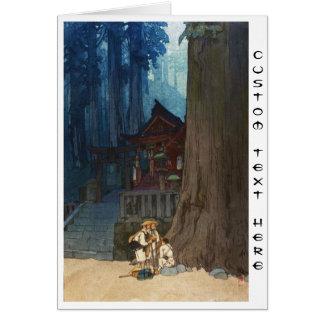 Misty day in Nikko Hiroshi Yoshida woodblock art Note Card