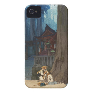 Misty day in Nikko Hiroshi Yoshida woodblock art iPhone 4 Cover