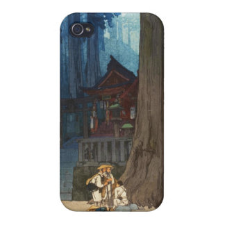 Misty day in Nikko Hiroshi Yoshida woodblock art iPhone 4 Case