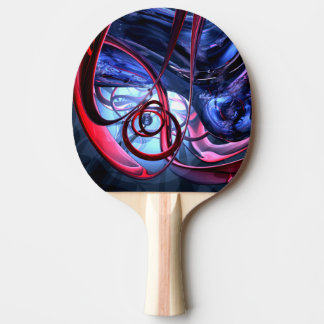 Misty Dreams Abstract Ping Pong Paddle
