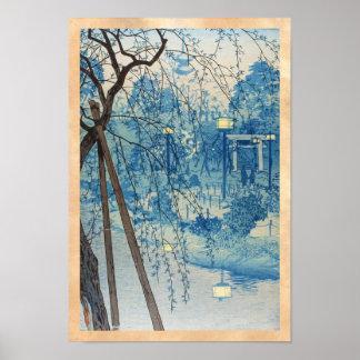 Misty Evening At Shinobazu Pond, Tokyo Kasamatsu Poster