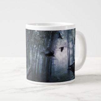 Misty Forest Crows 20 Oz Large Ceramic Coffee Mug Jumbo Mug