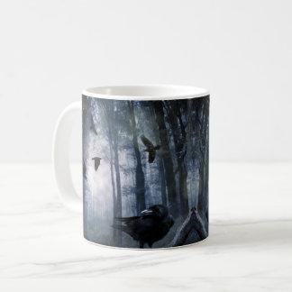Misty Forest Crows Mug