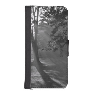 Misty Forest in Monochrome wallet case