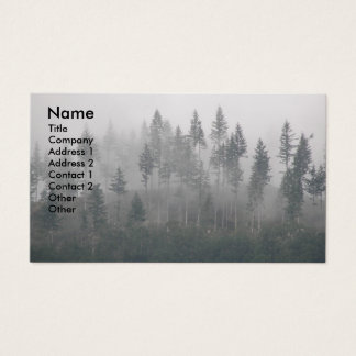 Misty Forest Photo Business Card
