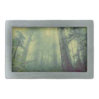 Misty forest rectangular belt buckles