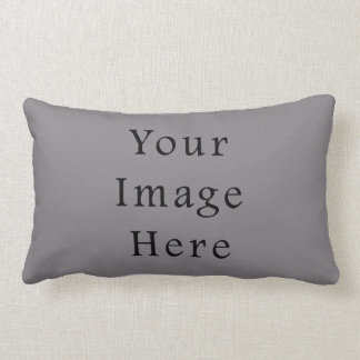Misty Grey Color Gray Trend Blank Template Pillow
