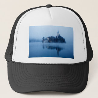 Misty Lake Bled Trucker Hat