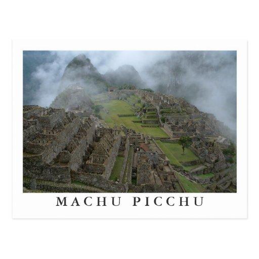 """""""Misty Machu Picchu"""" postcard"""