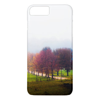 Misty meadow in autumn iPhone 8 plus/7 plus case