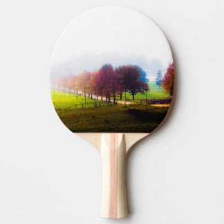 Misty meadow in autumn ping pong paddle