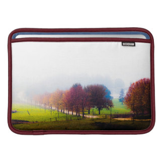 Misty meadow in autumn sleeve for MacBook air