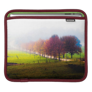 Misty meadow in autumn sleeves for iPads