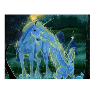 """Misty Midsummers Morning"" Unicorn Postcard"
