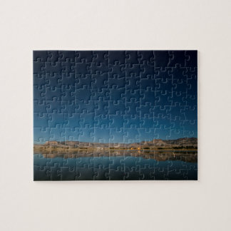 Misty moon light, night scenes jigsaw puzzle