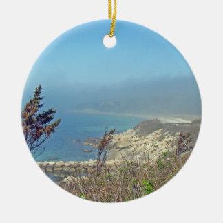 Misty Morning at Nobska Point - Cape Cod MA Christmas Ornament
