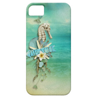 Misty Morning Beach seahorse tropical Case For The iPhone 5