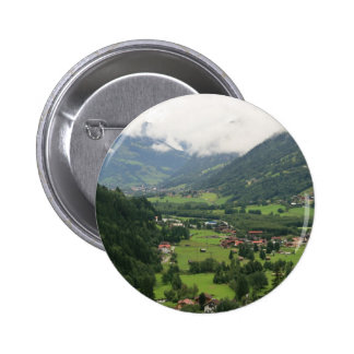 Misty morning in the Alps 6 Cm Round Badge