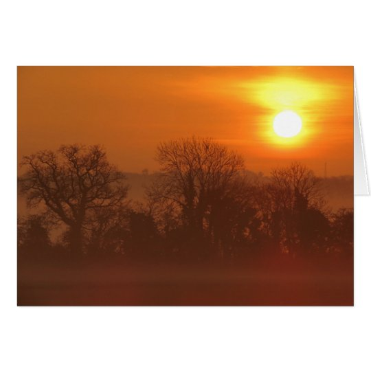 Misty Morning Sunrise Landscape. Card