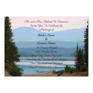 Misty Mountain Lake Dream Wedding Invitation