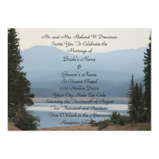 Misty Mountain Lake Wedding Invitation