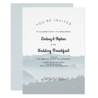 Misty Mountains Wedding Breakfast Invitation