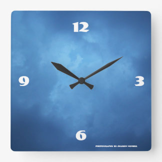 Misty night sky clock