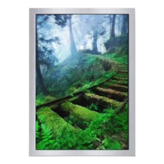Misty Path Through the Woods 13 Cm X 18 Cm Invitation Card