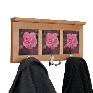 Misty Pink Rose Coat Rack